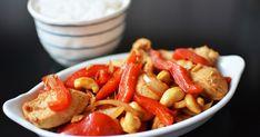 KURCZAK Z RYŻEM, kurczak z orzechami nerkowca, kurczak cashew nuts, kurczak po azjatycku