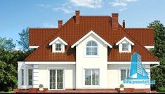 Dom w wiciokrzewie Bungalow Style House, Architecture Design, House Plans, Shed, New Homes, Floor Plans, Outdoor Structures, Cabin, Mansions