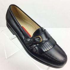 9a535c5da65 Cole Haan Mens Pinch Buckle Loafer Black Leather Size 8B Dress Shoe C03518
