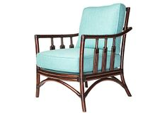 St. Barts Lounge Chair on OneKingsLane.com $1,099.00  **I love the mahogany and turquoise in this chair! the colors together are beautiful!**