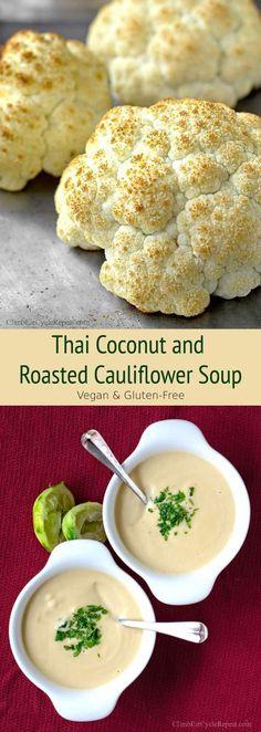 ClimbEatCycleRepeat.com | Thai Coconut and Roasted Cauliflower Soup