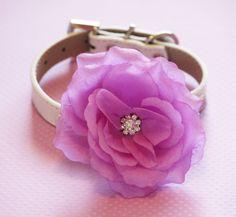 # Purple wedding diea # Purple Flora Dog Collar # purple wedding  by LADogStore, $32.50