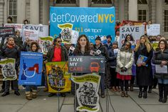 """On January 18, at the Save My Care Rally on the steps of New York City Hall, Make the Road New York issues """"Safeguarding Immigrant Coverage"""" a report on benefits of health insurance for immigrants and joins national effort to oppose repeal of the Affordable Care Act"""