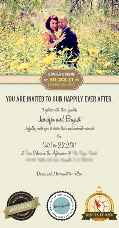 Email Wedding Invitation by Vincent Valentino, via Behance