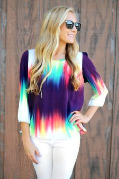 Aurora Borealis Top - Plum $29.99 #FallFashion