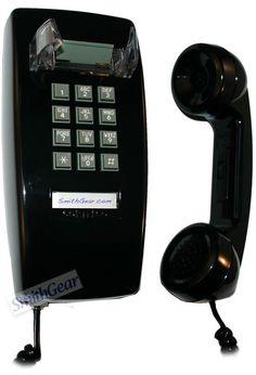 Cortelco 2554 Corded Wall Phone BLACK