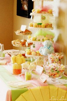 Great ideas for a circus shower theme for girl baby.