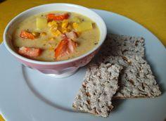 Smoked Fish Chowder / Chowder, čiže krémová polievka s údenou rybou a kukuricou