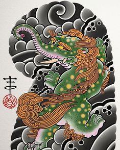 Japanese Leg Tattoo, Japanese Legs, Japanese Tree, Foo Dog Tattoo, I Tattoo, Asian Tattoos, Leg Tattoos, Fu Dog, Traditional Japanese Tattoos