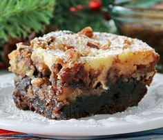 Outrageous Fudge Brownie Pecan Pie With A Cheesecake Topping Recipe on Yummly