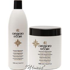 Argan Star Regenerating Kit Shampoo 1000ml + Mask 1000ml RR Line ® & Keratin