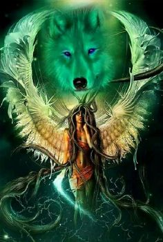 I incredibly am keen on the different colors, outlines, and depth. This really is an amazing artwork if you are looking for a Native American Wolf, Native American Pictures, Native American Artwork, American Indian Art, Dark Fantasy Art, Fantasy Wolf, Artwork Lobo, Wolf Artwork, Wolf Images