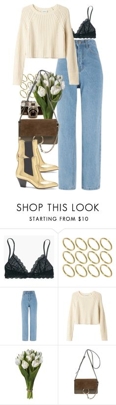 """Knit and Gold"" by aurorakonstance ❤ liked on Polyvore featuring Madewell, ASOS, Monki, Chloé and Marc Jacobs"