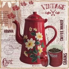 Retro Coffee Machines Australia, How To Use Classic Coffee Maker our Coffee Bean Best Drinks near Coffee Maker French Press up Coffee Rani Vintage Diy, Decoupage Vintage, Vintage Coffee, Vintage Labels, Vintage Images, Vintage Posters, Diy And Crafts, Paper Crafts, Coffee Cafe