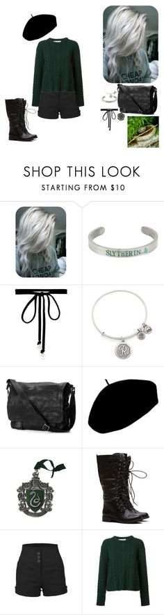 """Rayleigh Silver Grey #2"" by alexishambleton on Polyvore featuring mode, Warner Bros., Joomi Lim, Alex and Ani, Frye, Betmar, LE3NO et Ryan Roche"