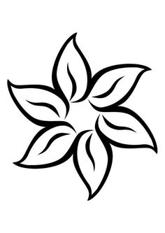 Flor Cool Art Drawings, Easy Drawings, Flower Patterns, Flower Designs, Wood Burning Art, Flower Template, Hand Embroidery Patterns, Adult Coloring Pages, Mosaic Art