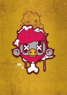 #bird #vector #illustration #adobe #design #draw #sammygonza #dead #texture #kuler #creative #flyer