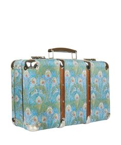 Blue Hera Liberty Print Miniature Suitcase