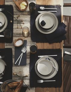 A table set and ready for everything.