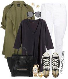 Plus Size Black Tunic Outfit - Plus Size Fashion for Women - alexawebb.com - #alexawebb