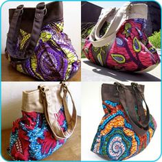 Love these kitenge bags...Maybe i can make something like this?