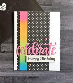 Celebrate polka dot card!
