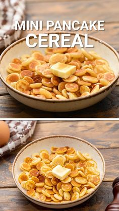 Mini Pancake Cereal is a TikTok viral recipe! It's such a fun recipe for breakfast the the kids will love. A homemade pancake batter that turns into these perfectly light and crispy mini pancakes. Toss them in syrup, butter or pour milk over them!