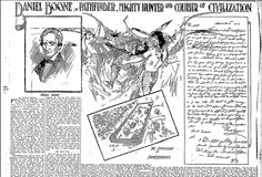 "A newspaper article about the legendary frontiersman Daniel Boone, published in the Oregonian (Portland, Oregon), 17 April 1910. Read more on the GenealogyBank blog: ""Remembering Daniel Boone, Dr. Seuss & Paul Newman with Newspapers."" http://blog.genealogybank.com/remembering-daniel-boone-dr-seuss-paul-newman-with-newspapers.html"