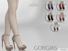 The Sims Resource: Madlen`s Gorgias Shoes by MJ95 • Sims 4 Downloads