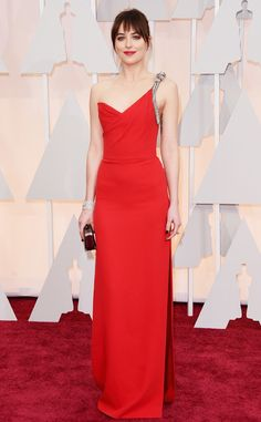 Dakota Johnson, Saint Laurent dress, Academy Awards - Oscar 2015