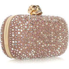"queenbee1924: "" (via Alexander McQueen Diamante-Embellished Box Clutch | Clutch Crush ♥) """