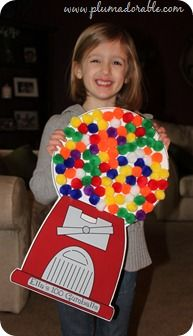 100 Days of school gumball machine: Counting to 100