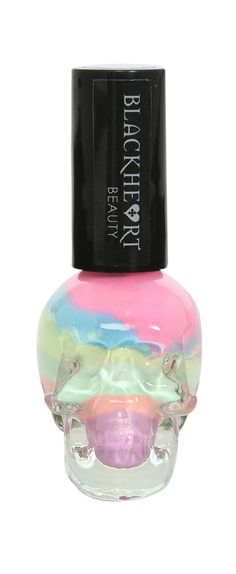 Blackheart Pastel Rainbow Stripe Nail Polish
