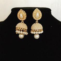White Pearl designer long jhumka