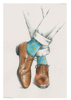 men´s shoes illustration- Mikki Butterley