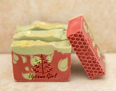 Hand Made Winter Soap Organic Soap Strawberry by UptownGirlSoap
