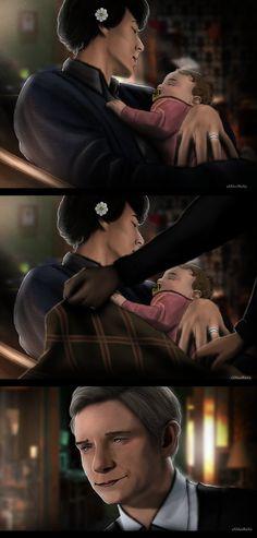 [Sherlock x John x Rosie] Family by xXMarilliaXx on DeviantArt
