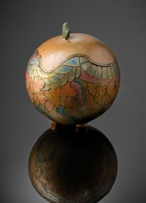 Gourd art by Kathleen Troutman