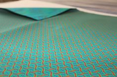 "Afrikat Pillowcase in ""Turquoise Braid"" Pattern - handmade in Berlin with authentic South African ShweShwe fabrics - get yours now on www. Braid Patterns, Berlin, Pillow Cases, Fabrics, African, Turquoise, Throw Pillows, Deco, Interior"
