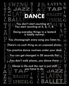 "Unframed Dance Styles 8"" x 10"" Sport Poster Print"