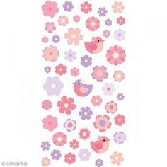 Pegatinas Puffies - Flores acuarela - 51 autoadhesivos - Fotografía n°1