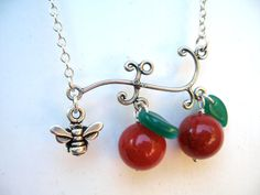 Apple necklace, teacher gifts for Christmas