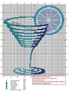 cuisine - kitchen - cocktail - point de croix-cross stitch - broderie-embroidery- Blog : http://broderiemimie44.canalblog.com//
