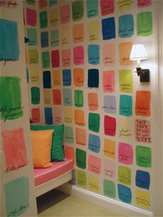 This would be fun in my girls room or on a wall in the craft room... maybe, I'll get bored one day and paint away!