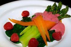 Asparagus Salad with raspberry vinaigrette