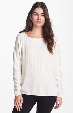 Lafayette 148 New York Cotton & Cashmere Sweater
