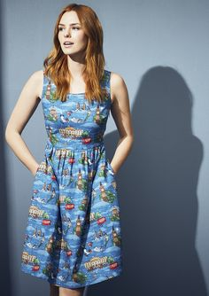 Peter Pan in London Dress from the #DisneyXCathKidston collection