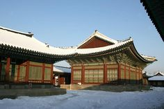 Gyeongbokgung Palace covered with snow | Seoul, Korea