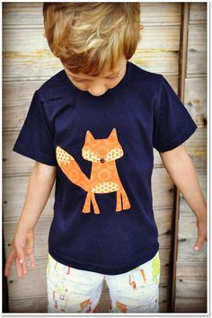 Monkeys Over The Moon Applique Kids T-shirts