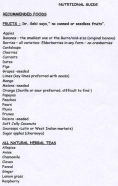 Dr. Sebi's Nutritional Guide